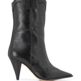 Alexandre Birman ankle-length cowboy boots - Black