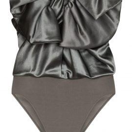 Alexandre Vauthier bodysuit bow top - Grey