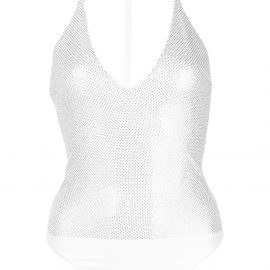 Alexandre Vauthier crystal-embellished bodysuit - White