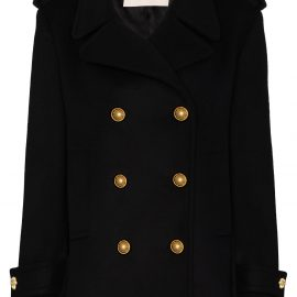 Alexandre Vauthier double-breasted wool coat - Black