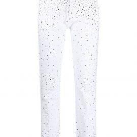 Alexandre Vauthier rhinestone-embellished slim-fit jeans - White