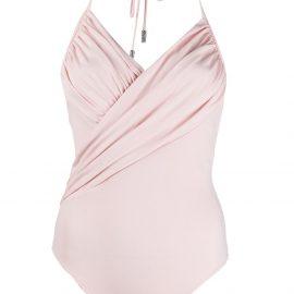 Alexandre Vauthier ruched front bodysuit - Pink