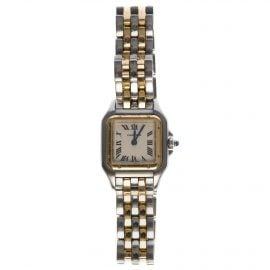 Amazing Cartier Panthere lady wristwatch in yellow gold plated & steel, Yellow