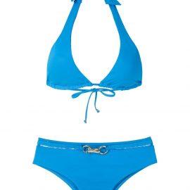 Amir Slama metallic embellishment bikini set - Blue