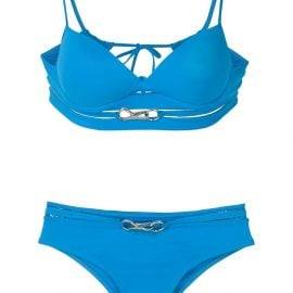 Amir Slama metallic embellishments bikini set - Blue