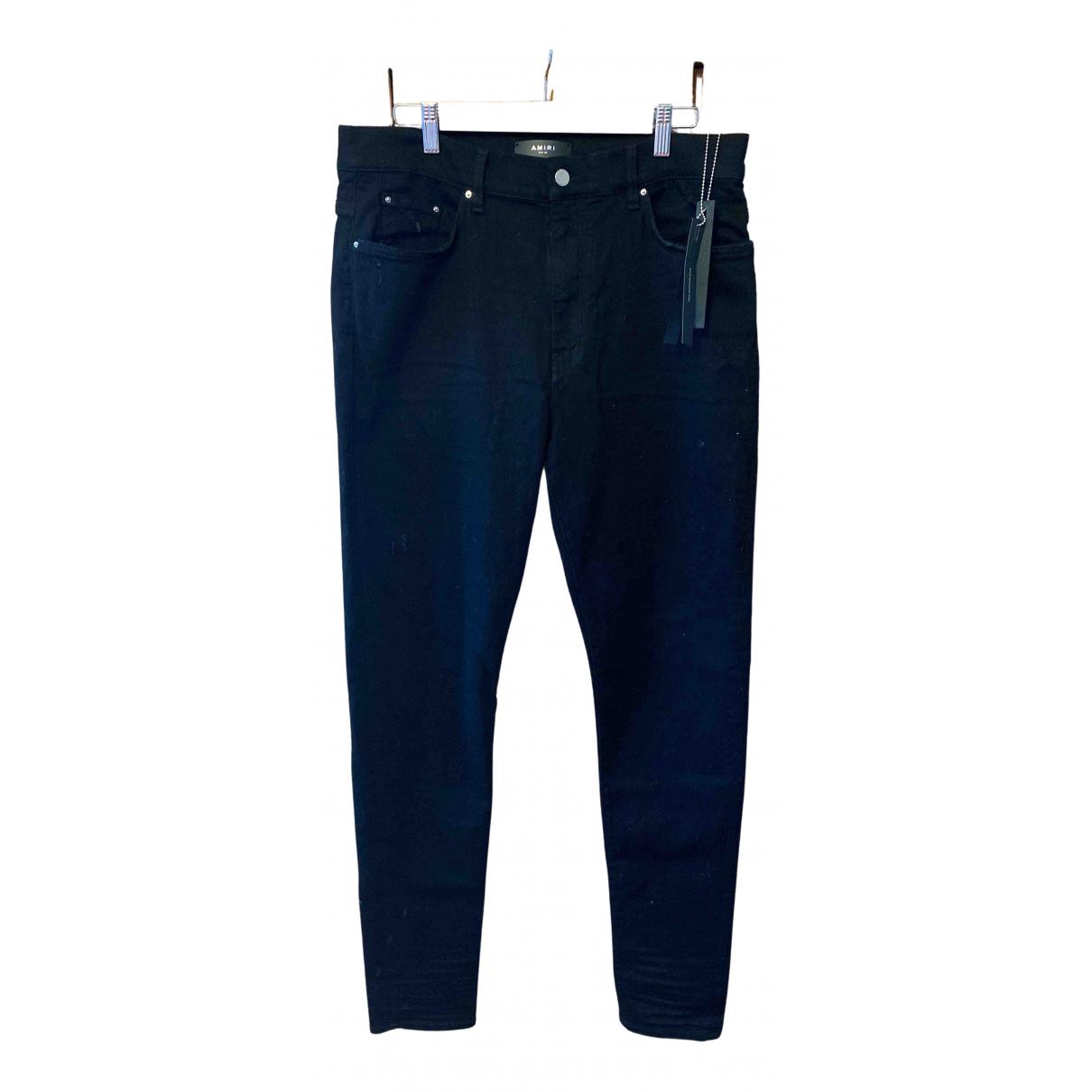 Amiri N Black Cotton Jeans for Men