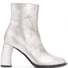 Ann Demeulemeester Bristol curved-heel ankle boots - Silver