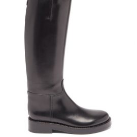 Ann Demeulemeester - Leather Riding Knee Boots - Womens - Black