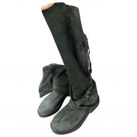Ann Demeulemeester Patent leather biker boots