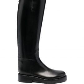 Ann Demeulemeester buckled knee-high boots - Black