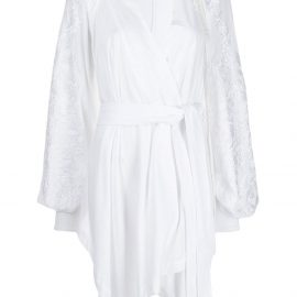 Ann Demeulemeester embroidered wrap blouse - White