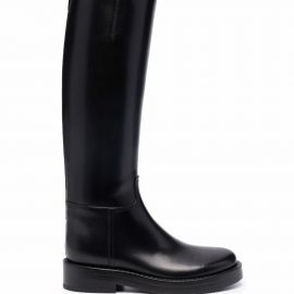 Ann Demeulemeester knee-high riding boots - Black