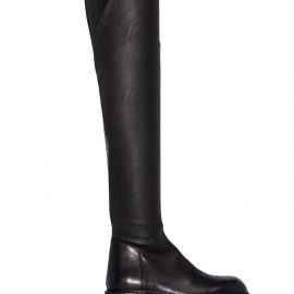 Ann Demeulemeester thigh-high leather boots - Black