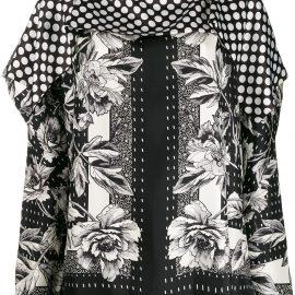 Antonio Marras flower-print silk blouse - Black