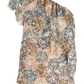 Antonio Marras sequin-embellished one-shoulder blouse - Gold