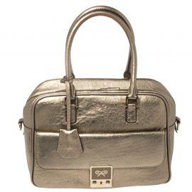 Anya Hindmarch Metallic Gold Leather Satchel
