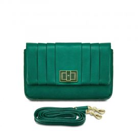 Anya Hindmarch Mini Gracie Green Leather Shoulder Bag