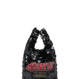 Anya Hindmarch mini Mars Bar tote bag - Black