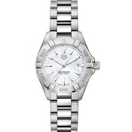 Aquaracer 27MM Stainless Steel & Mother-of-Pearl Quartz Bracelet Watch