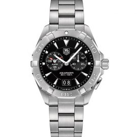 Aquaracer 40.5MM Stainless Steel Quartz Bracelet Chronograph Watch