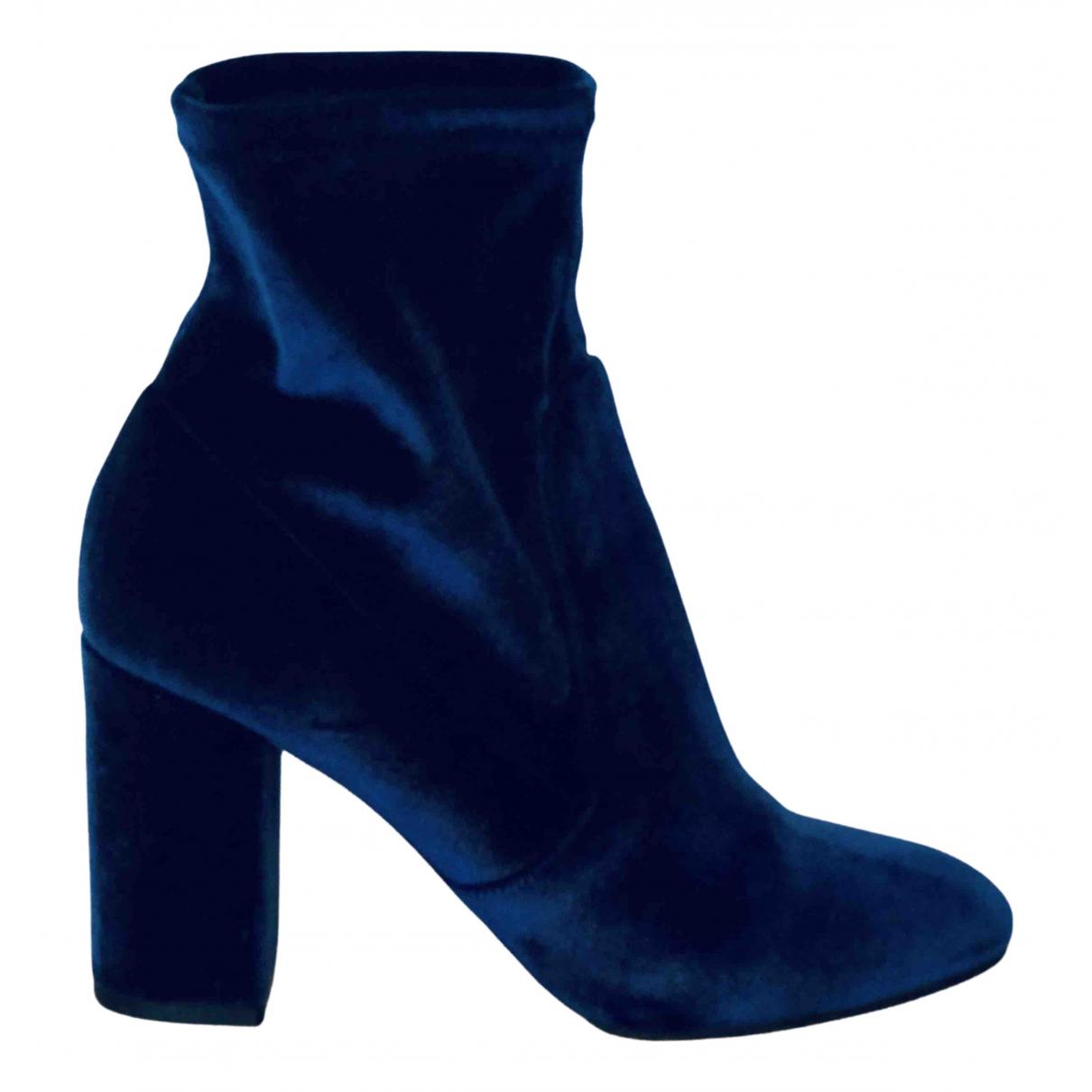 Aquazzura N Blue Velvet Ankle boots for Women