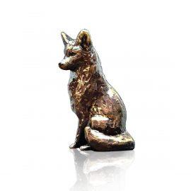 Art In Bronze Fox Sitting Figurine