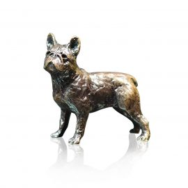 Art In Bronze French Bull Dog Figurine