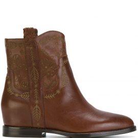 Ash cowboy ankle boots - Brown