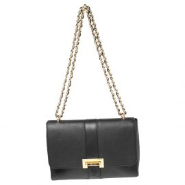 Aspinal Of London Black Leather Lottie Shoulder Bag