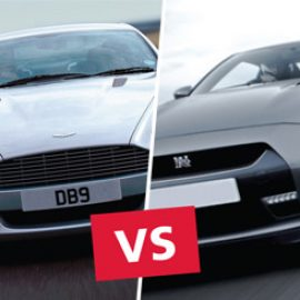 Aston Martin versus Nissan GT-R Driving Experience at Dunsfold Park