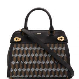 Au Départ La Madeleine coated canvas tote bag - Black