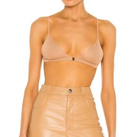 Aya Muse Poppy Bralette in Nude. Size M, S.