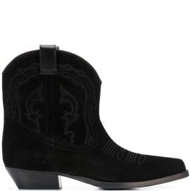 Ba&Sh Colt textured cowboy-style boots - Black