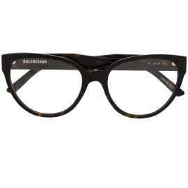 Balenciaga Eyewear BB0064O cat eye-frame glasses - Brown