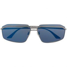 Balenciaga Eyewear Hybrid D-frame sunglasses - Silver