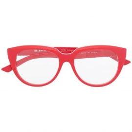 Balenciaga Eyewear cat-eye frame clear glasses - Red