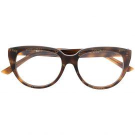 Balenciaga Eyewear tortoiseshell-effect cat-eye-frame glasses - Brown