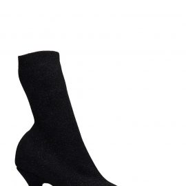 Balenciaga High Heels Ankle Boots In Black Synthetic Fibers