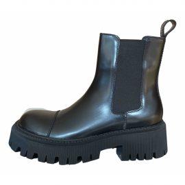 Balenciaga Leather biker boots