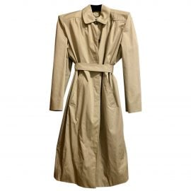 Balenciaga N Beige Cotton Trench Coat for Women