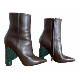 Balenciaga N Brown Leather Ankle boots for Women