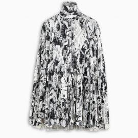 Balenciaga Print pleated mini dress