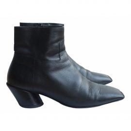 Balenciaga Quatro leather biker boots