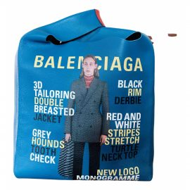 Balenciaga Shopping North South leather bag