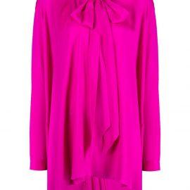 Balenciaga tie-neck blouse - Pink