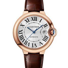 Ballon Bleu De Cartier 18K Rose Gold Alligator-Embossed Leather-Strap Watch