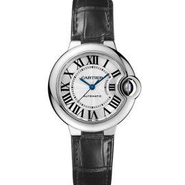 Ballon Bleu De Cartier Stainless Steel & Alligator Leather Strap Watch