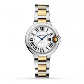 Ballon Bleu De Cartier Watch, 33mm, Mechanical Movement With Automatic Winding, Yellow Gold, Steel