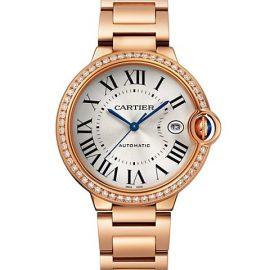 Ballon Bleu de Cartier 18K Rose Gold & Diamond Bracelet Watch