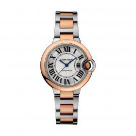 Ballon Bleu de Cartier watch, 33 mm, rose gold, steel